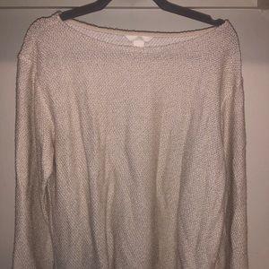 H&M light cream sweater